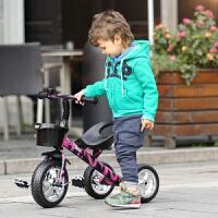 儿童三轮车小孩自行车宝宝手推车脚踏车2-5岁免充气