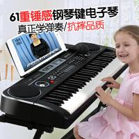 【支持礼品卡】宝宝音乐玩具钢琴带话筒男女孩61键电子琴儿童初学者教学3-6-12岁j2p