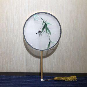 苏绣团扇《蜻蜓翠竹》