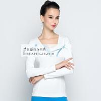 20180414203537391伽服T恤 运动健身长袖上衣显瘦带胸垫 瑜伽服饰秋冬新款