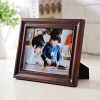 相框摆台创意欧式复古客厅6寸7寸8寸10寸12寸相片架相架像框实木 深棕色