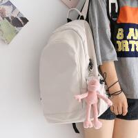 NR日系纯色大容量书包中学生初中生双肩包女韩版背包女双肩大学生