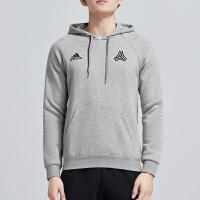 adidas阿迪达斯男服卫衣2019新款连帽套头足球休闲运动服DP2690