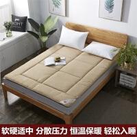 纯羊毛床垫床褥子双人加厚保暖防潮学生宿舍0.9m单人 驼色 【升级款】 2.0X2.2米 加厚款【7cm】