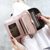 户外钱包女短款小清新折叠韩版学生多功能卡包钱包一体包