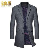 呢子大衣男中长款韩版新款商务休闲中年男装尼子男士毛呢外套