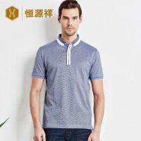 男士短袖纯棉polo衫 夏季新款修身翻领半袖双丝光棉t恤薄款