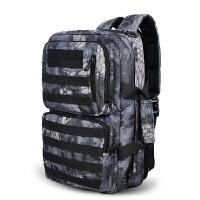 户外双肩包男女登山包大容量旅行包旅游迷彩包运动防水骑行包40L 莽纹