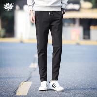 逸纯印品(EASZin)男休闲长裤 2017韩版修身小脚裤 弹力裤 铅笔裤
