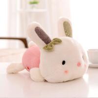 萌味 公仔抱枕 毛绒玩具可爱兔子趴趴兔婚庆布娃娃礼品高弹PP棉