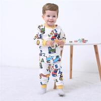 男童卡通内衣套装睡衣两件套婴儿宝宝夹丝衣服