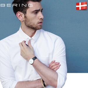 bering白令进口情侣时尚潮流皮带女手表休闲简约日历手表男11139