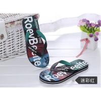 夏人字拖男沙滩鞋学生拖鞋耐磨防滑外穿夹脚迷彩时尚潮流个性休闲