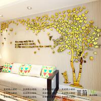 创意树3d立体亚克力墙贴画客厅沙发电视背景墙壁室内房间温馨装饰 超