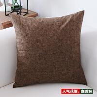 亚麻沙发靠垫抱枕套靠枕套不含芯5055定做简约欧式腰靠T