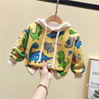 男女童恐龙卫衣绒衫婴儿童装小童秋冬保暖上衣