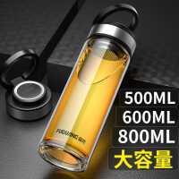 富光玻璃杯高档便携单层泡茶杯男耐高温水杯子大容量双层加厚透明