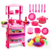 宝宝厨具餐具套装水果切切乐儿童过家家厨房玩具 女孩做饭煮饭