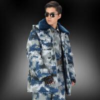 空降特种兵迷彩服作训大衣男加厚保暖军大衣棉大衣防寒服棉衣