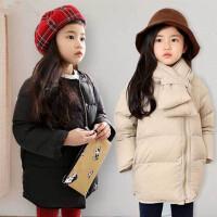亲子装母女冬装韩国童装女童羽绒中大儿童中长款保暖羽绒服