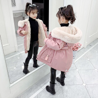 女童冬装新款棉衣儿童派克服中大童洋气女孩羽绒棉袄