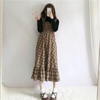 港味套装女冬装时尚潮ulzzang套装裙上衣配裙子两件套bf甜美学生