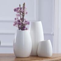 欧式白色陶瓷小花瓶文艺现代简约客厅家居供佛装饰品插花干花摆件