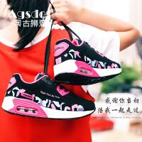 运动鞋女夏款韩版百搭跑步鞋透气2019新款女鞋小白鞋迷彩气垫鞋夏