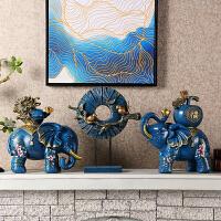 创意家居装饰品风水大象摆件客厅电视柜玄关酒柜摆设开业礼品