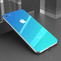 新款彩虹苹果7plus手机壳iphone8苹果6全包iphone6splus玻璃8plus潮牌iph