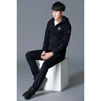 卫衣套装男秋冬两件套2017新款冬装韩版潮流加绒加厚男士运动套装