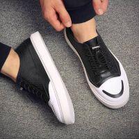 CUM 男鞋子潮流夏季男士板鞋黑色潮鞋百搭小白鞋懒人鞋子男休闲鞋