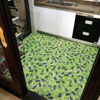 厨房垫子浴室地垫防滑垫脚垫带吸盘卫生间塑料地毯pvc防水油吸水 魅力绿叶实拍