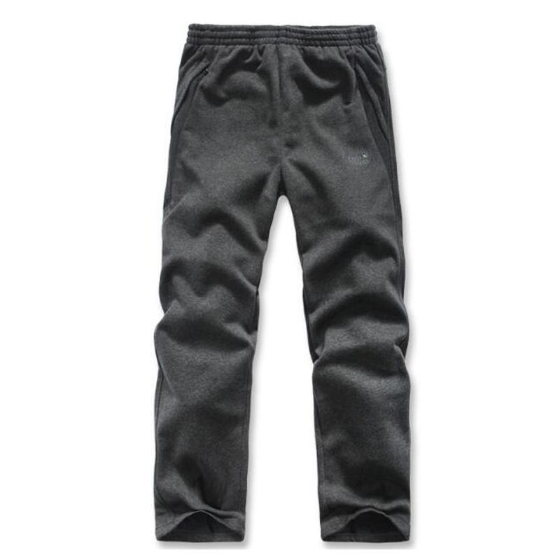 中老年男士加绒加厚运动裤冬季防风裤子不倒绒