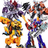 【支持礼品卡】变形玩具金刚5模型汽车机器人大黄蜂恐龙电影手办合金版儿童男孩 l0r