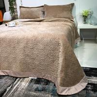 欧式大床盖三件套 绗缝双面使用多功能床单空调被床盖绗缝被 YYG-小雏菊床盖三件套 240cmx250cm