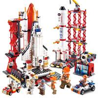 儿童积木拼装玩具益智6-7-8-10岁男孩智力航天飞机火箭模型
