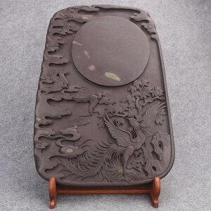 中国端砚 有冻岩 《丹凤朝阳》钟湛良作品
