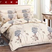 床上四件套 磨毛斜纹床上用品床单式套件被套 2.0m床 (被套尺寸200*230cm)