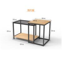 潮土现代简约多功能移动伸缩边几角几钢化玻璃小茶几沙发边几边桌T