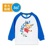 【线下同款】361度童装男童套头卫衣18秋季新款小儿童打底衫卡通K51834304