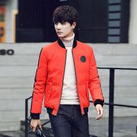 新款冬装男士羽绒服短款潮男棒球领外套轻薄鸭绒袄男黑色夹克