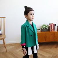 2018秋冬新款女童加厚呢子风衣外套韩版儿童短款大衣外套小中大童