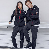 情侣卫衣女男韩版健身瑜伽服运动修身套装女两件套