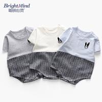 婴儿衣服夏季6-12个月宝宝哈衣初生儿外出抱衣包屁衣