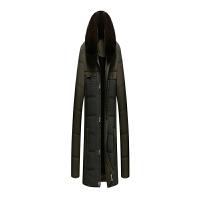 2017冬季新款中年男装棉衣大码爸爸装毛领加绒加厚中老年棉袄