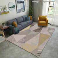 地毯客厅家用北欧ins简约现代沙发茶几地垫床边卧室满铺地毯定制j 乳白色 几何13