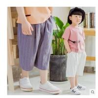 男童短裤夏装儿童休闲裤阔腿童装中裤中大童七分裤薄