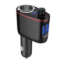 车载mp3音乐播放器汽车免提电话蓝牙接收器一拖二点烟器扩展