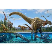 成人1000片木质拼图卡通动物儿童益智玩具礼物趣味减压 恐龙时代